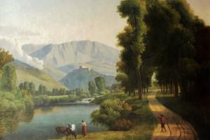 Alexandre Hyainthe Dunouy tableau neo classique paysage Italie Abruzzes vallée du Liri (2)