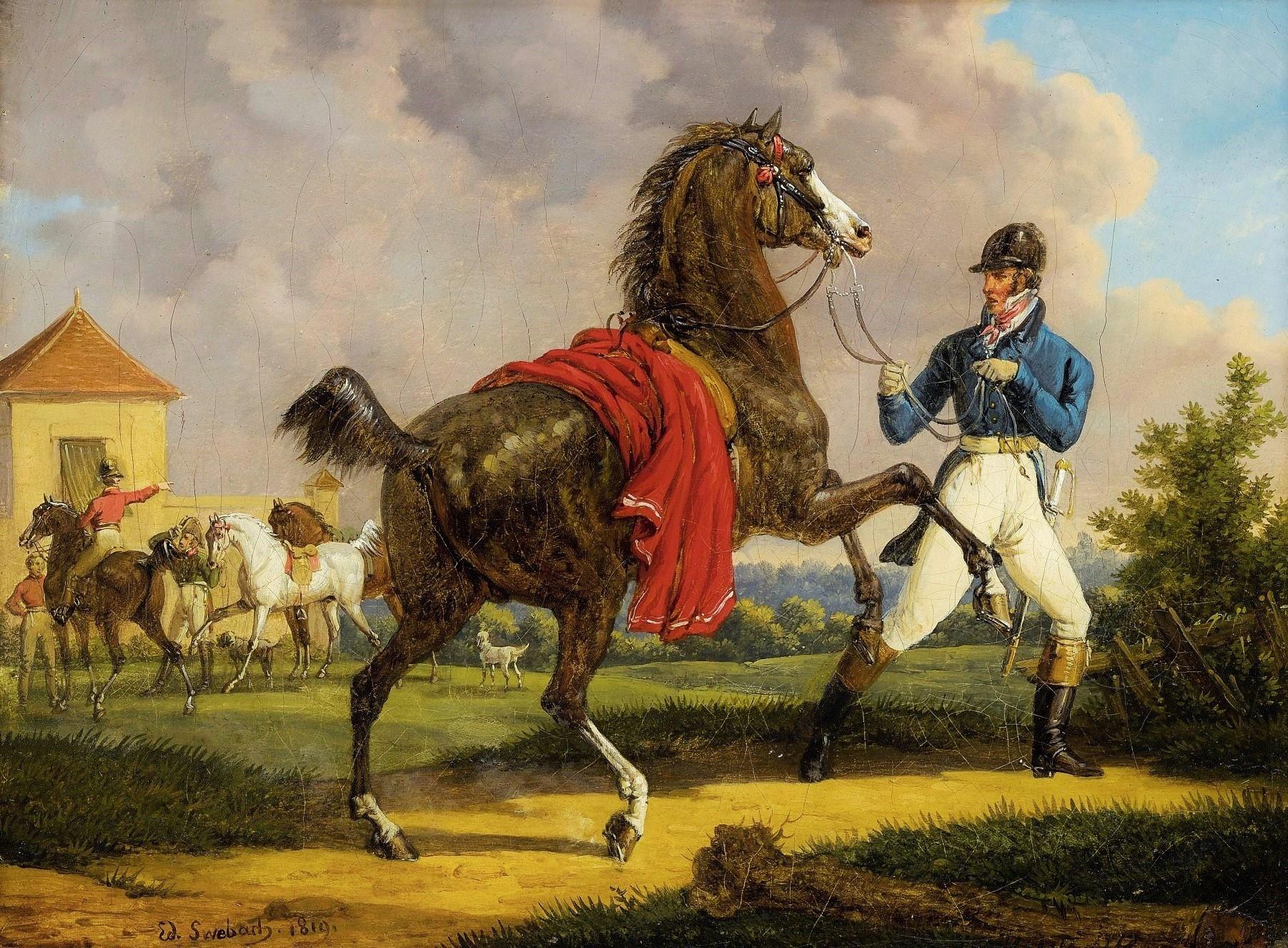 Bernard-Edouard Swebach Cheval Louis XVIII écuries royales Versailles (3)